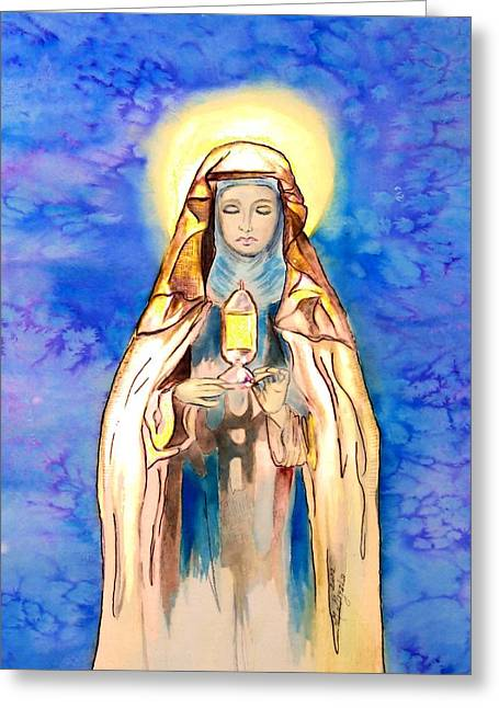 St. Clare Of Assisi Greeting Card by Myrna Migala