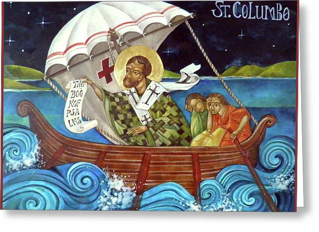 St Columbo Greeting Card by Mary jane Miller
