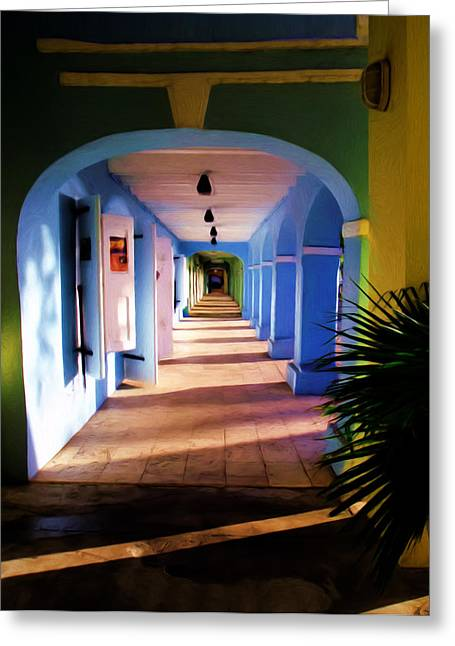 St. Croix Arches  Greeting Card by Linda Morland