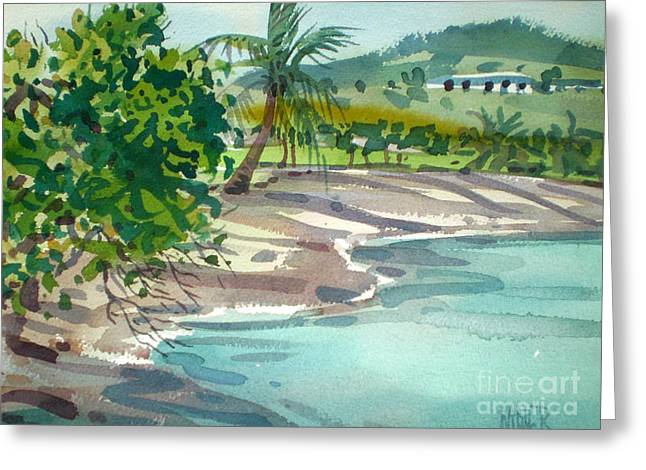 Croix Greeting Cards - St. Croix Beach Greeting Card by Donald Maier