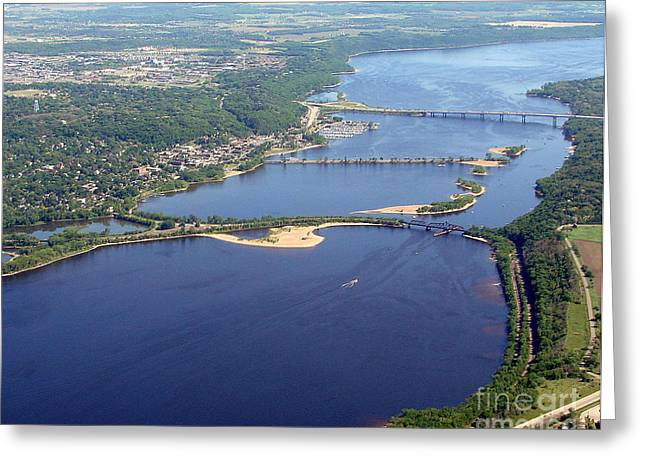 St Croix Lake And River Greeting Card by Bill Lang
