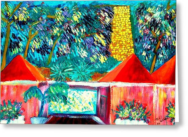St Croix Villa Greeting Card by Ted Hebbler