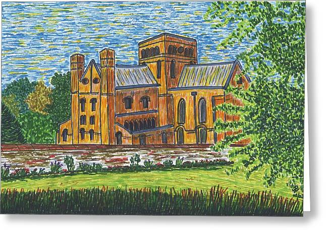 St Cross Church Winchester Greeting Card by Pat Walden