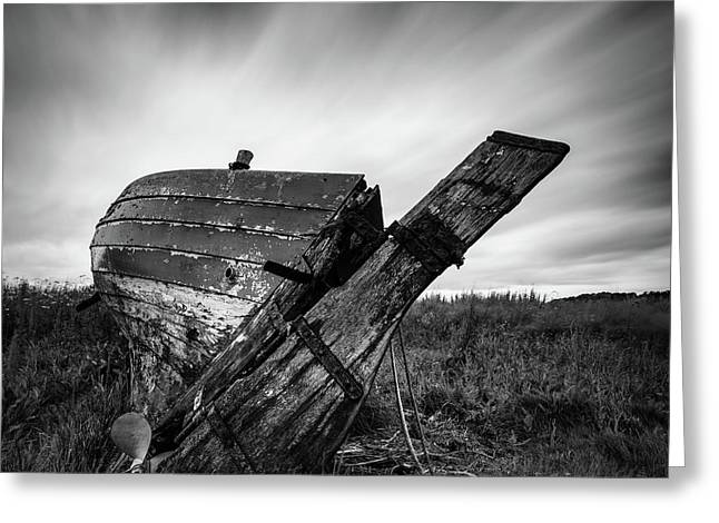 St Cyrus Wreck Greeting Card