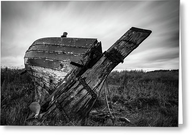 St Cyrus Wreck Greeting Card by Dave Bowman