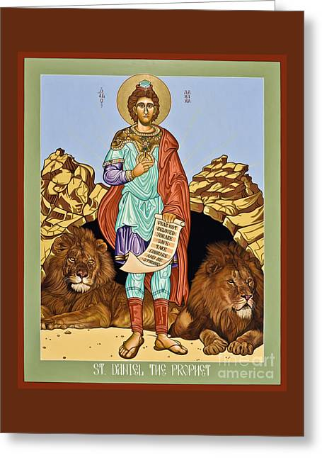 St. Daniel In The Lion's Den - Lwdld Greeting Card