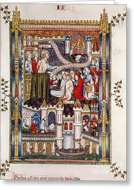 St. Denis Preaching, 1317 Greeting Card by Granger