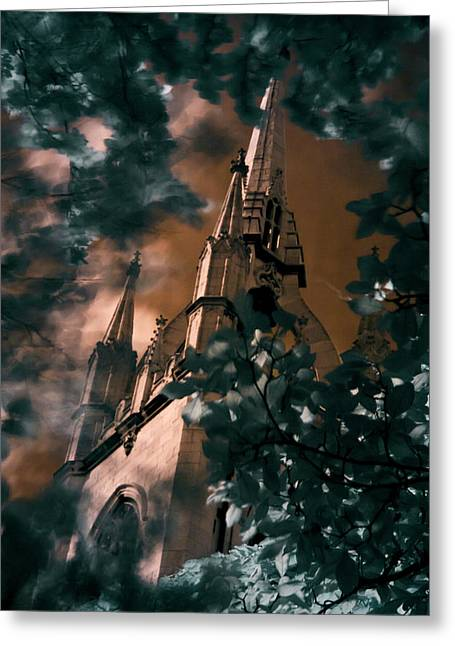 St Dunstan In The East Tower Greeting Card