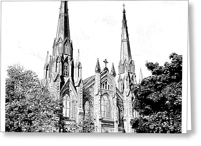 St Dunstans Basilica Greeting Card