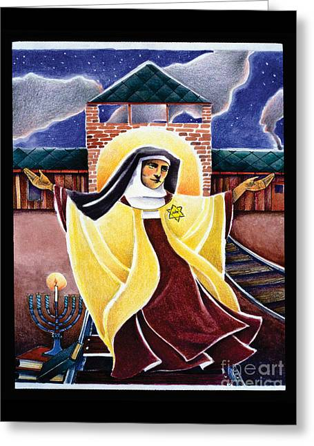 St. Edith Stein - Mmedi Greeting Card