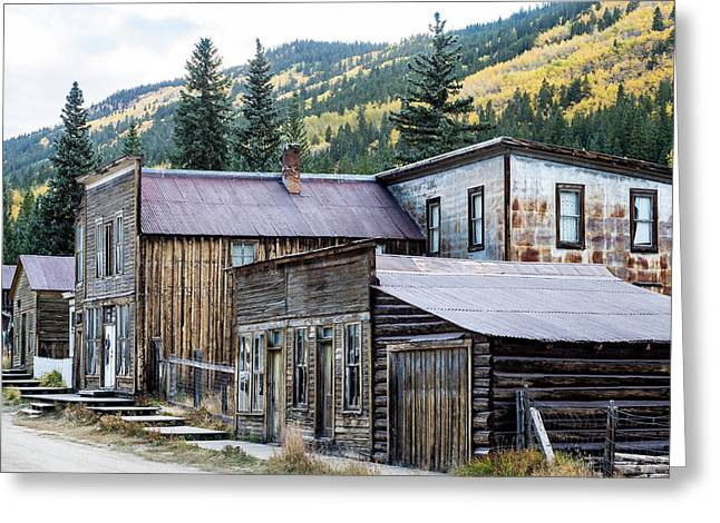 Greeting Card featuring the photograph St. Elmo A Colorado Ghost Town by Nadja Rider