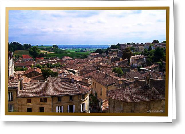 Greeting Card featuring the photograph St. Emilion View by Joan  Minchak