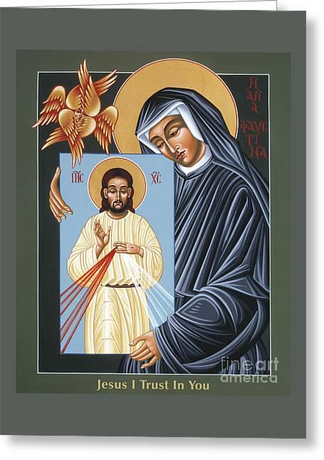 St Faustina Kowalska Apostle Of Divine Mercy 094 Greeting Card