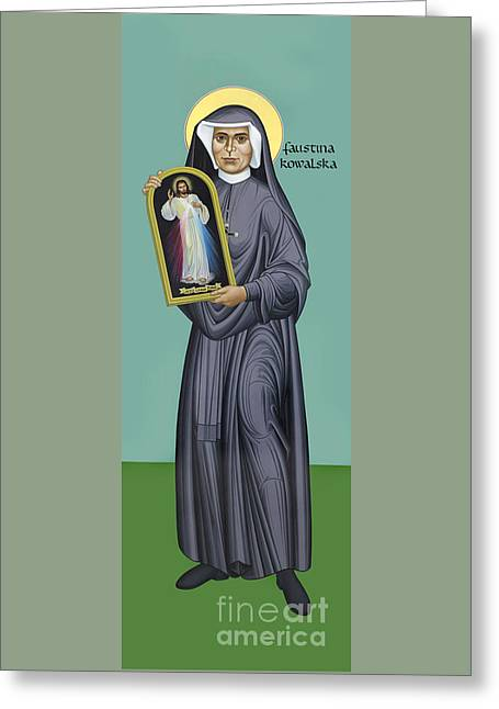 St. Faustina Kowalska - Rlfak Greeting Card