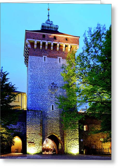 Greeting Card featuring the photograph St. Florian's Gate by Fabrizio Troiani