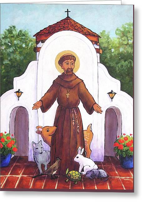 St. Francis At Holy Cross  Greeting Card