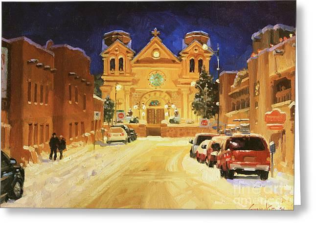 St. Francis Cathedral Basilica  Greeting Card by Gary Kim