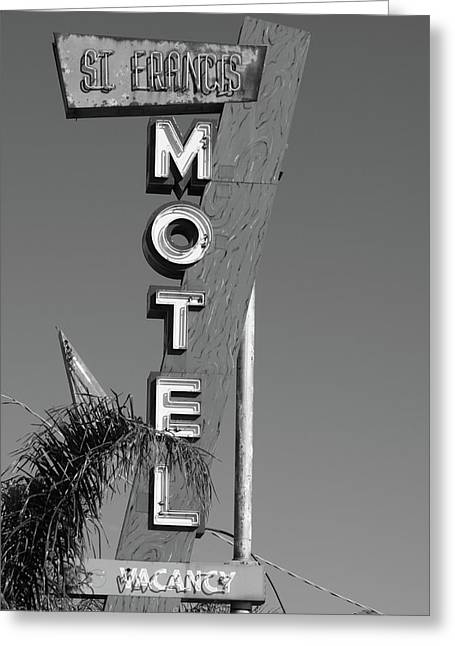 St Francis Motel Stockton Ca Greeting Card by Troy Montemayor