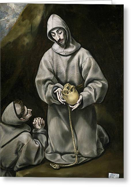 St. Francis Of Assisi Greeting Card by El Greco