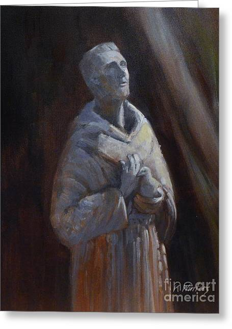 St. Francis Of Assisi Statue Greeting Card by Karen Winters