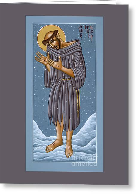 St Francis Wounded Winter Light 098 Greeting Card