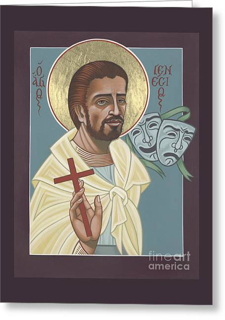 Greeting Card featuring the painting St Genisius Patron Of Actors 279 by William Hart McNichols