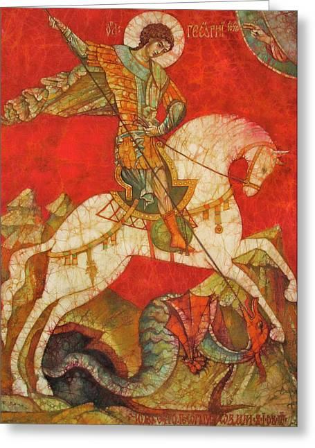 St George II Greeting Card by Tanya Ilyakhova