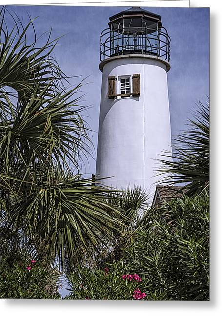 St George's Island Lighthouse Greeting Card by Joan Carroll