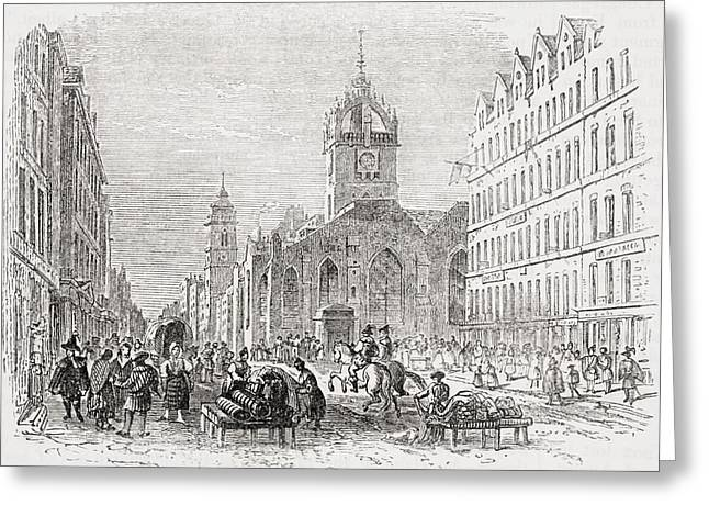 St Giles And The Old Tron Church Greeting Card by Vintage Design Pics