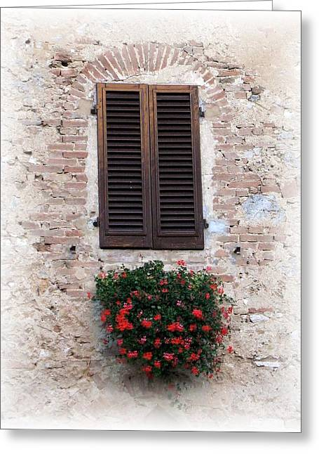 St. Gimignano Greeting Card by Carol Sweetwood