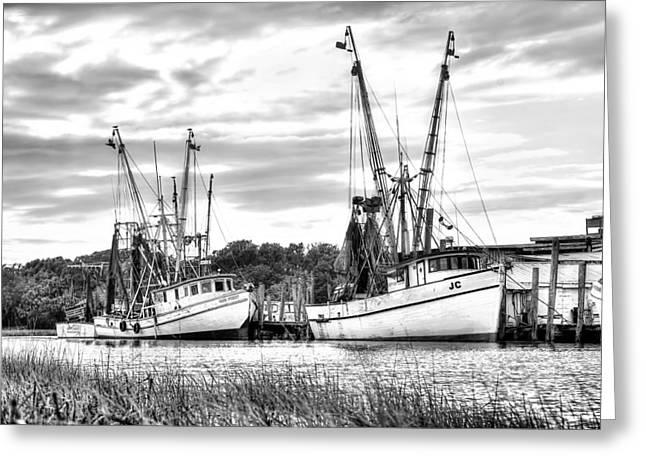 St. Helena Shrimp Boats Greeting Card by Scott Hansen