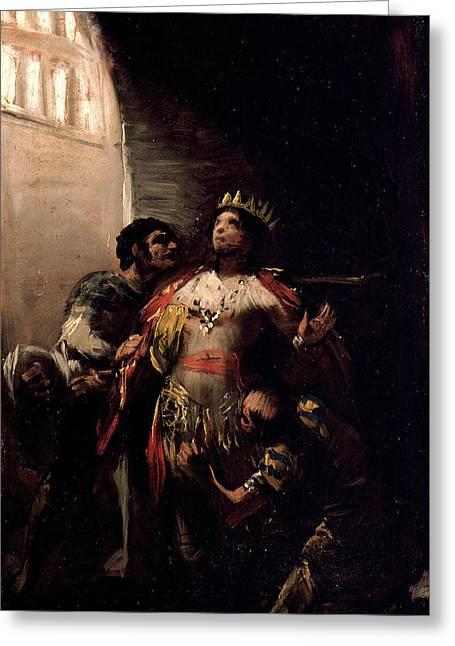 St Hermenegild In Prison Greeting Card by Francisco Goya