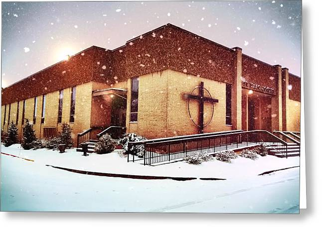 St. Isaac Jogues In The Snow Greeting Card