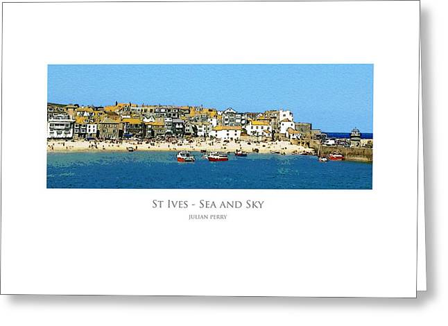 St Ives Sea And Sky Greeting Card