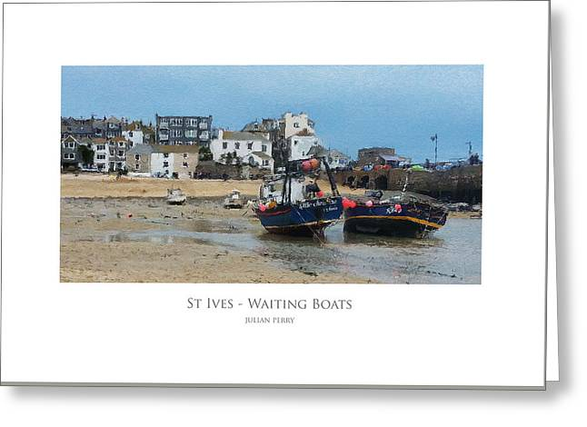 St Ives - Waiting Boats Greeting Card