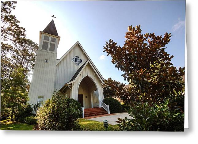 Greeting Card featuring the photograph St. James V4 Fairhope Al by Michael Thomas
