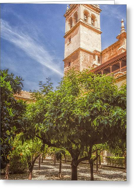 St Jerome Cloister Granada Greeting Card