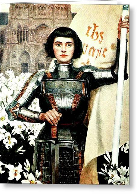 St Joan Of Arc - Jeanne D'arca Greeting Card
