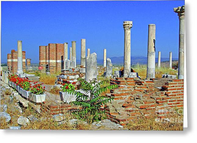 St John Basilica Ruins Greeting Card by Rich Walter