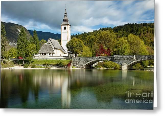 St John Church - Slovenia Greeting Card