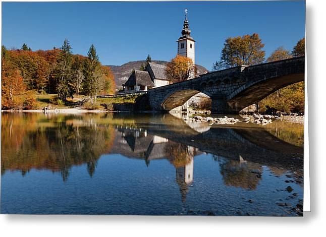 St. John The Baptist On The Lake Bohinj Greeting Card