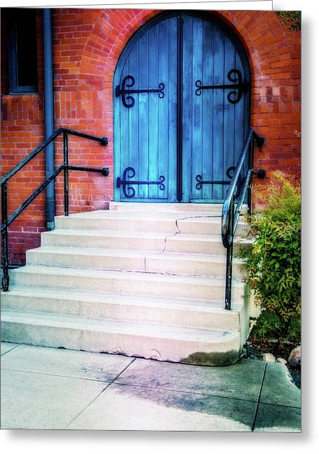 St. John's Door Greeting Card by Terry Davis