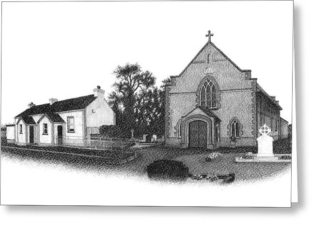 St. John's School And Chapel - Annaghmore Greeting Card by Conor OBrien
