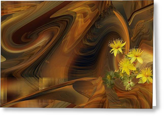 St John's Wort In An Abstract Greeting Card