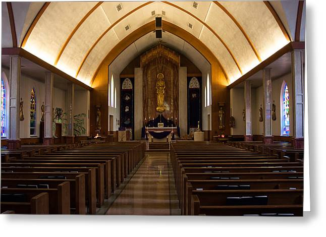 Greeting Card featuring the photograph St. Josephs Catholic Church by Monte Stevens