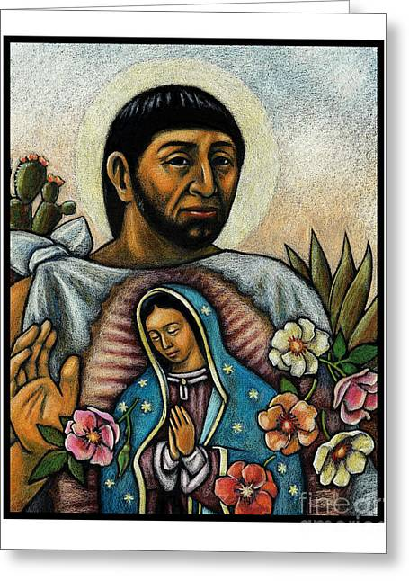 St. Juan Diego And The Virgins Image - Jljdv Greeting Card