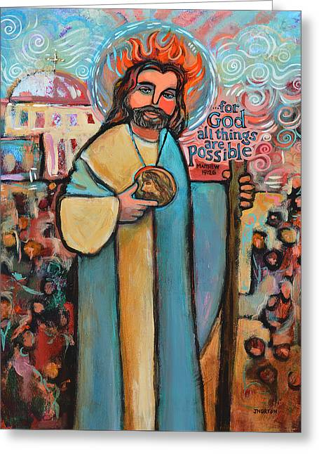 St. Jude Greeting Card by Jen Norton