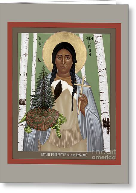 St. Kateri Tekakwitha Of The Iroquois - Rlktk Greeting Card