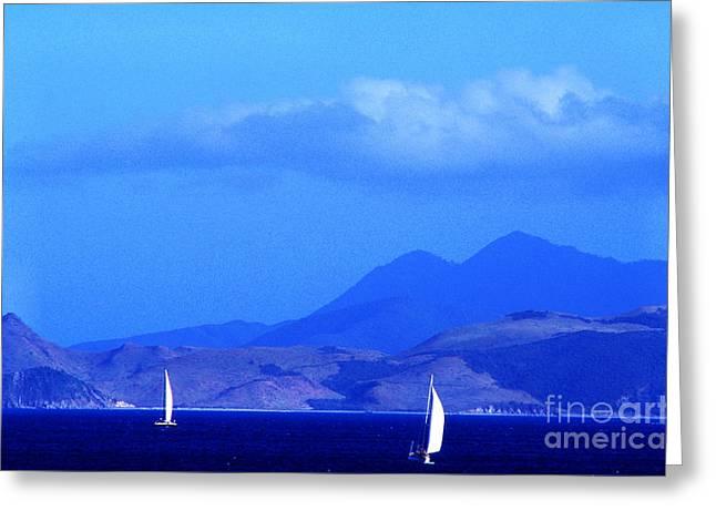 St Kitts Sailboats Greeting Card by Thomas R Fletcher