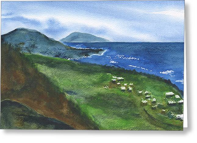 St Kitts View Greeting Card